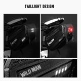 WILD MAN Bicycle Reflective Saddle Rear Tool Bags 1.2L MTB Bike Mobile Phone Case Cycling Seatpost Seat Tail Hard Bags