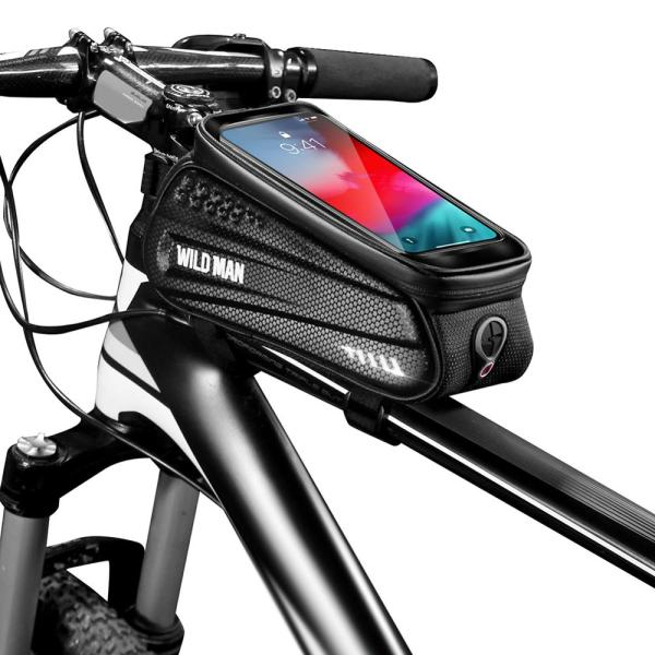 WILD MAN ES3 Rainproof Bicycle Bag Frame Front Top Tube Cycling Bag With TPU Sensitive Touch Screen For MTB Bike Accessories