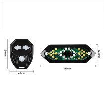 Bike Turn Signals Remote Control Bicycle Direction Indicator Waterproof Led Rear Light Usb Rechargeable Cycling Taillight #T4G