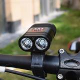 Y12 LED Mountain Bike Front Light Bicycle USB Charging Headlight Flashlight Rainproof Night Riding Equipment Accessories