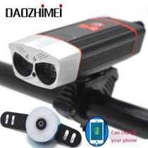 2000 Lumens Bike Light Rainproof USB Rechargeable LED 5200mAh MTB Bicycle Lamp Front Headlight Flashlight Bicycle Accessories