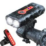 Bike Light USB Rechargeable MTB Bicycle Front Back Taillight Cycling Safety Warning Light Bicycle Lamp Flashligh Bike Accessorie