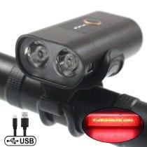 Bicycle Light Rainproof USB Charging LED 2000 Lumens MTB Front Lamp Headlight Aluminum Ultralight Flashlight Bike Light