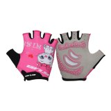 Children Bicycle Gloves Kids Outdoor Sports Half Finger Gloves Ultralight Lycra Breathable Fabric Outdoor Cycling Equipment