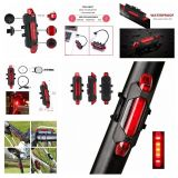 Bicycle Light Waterproof Rear Tail Light LED USB Style Rechargeable or Battery Style Bike Cycling Portable Light