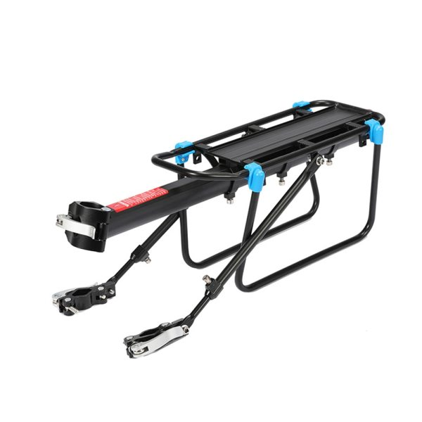 Bicycle Aluminum Alloy Luggage Carrier Cargo Rear Rack Shelf Cycling Bag Stand Holder Trunk Fit 50kg Heavy
