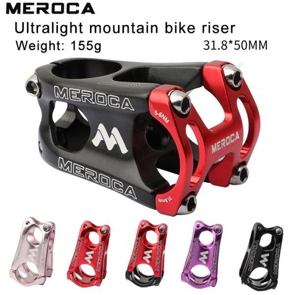 MEROCA 31.8mm Stem 50mm Bike Stem Mountain Bike Stem Short Handlebar Stem for Most Bicycle, road Bike MTB BMX Fixie Gear Cycling