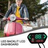 EVfitting Simple Electric Bicycle LCD Display 48v60v72v Universal With Speed Meter And Battery Status Indicator Functions Parts