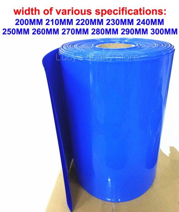 1kg Lithium battery skin packaging shrink sleeve 18650 26650 battery PVC heat shrinkable tube flame retardant insulation sleeve
