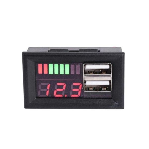 12V Digital Car Motorcycle Voltmeter Voltage Battery Panel Meter W USB 5V Output Car 12V Voltage and Electricity Meter Dual USB