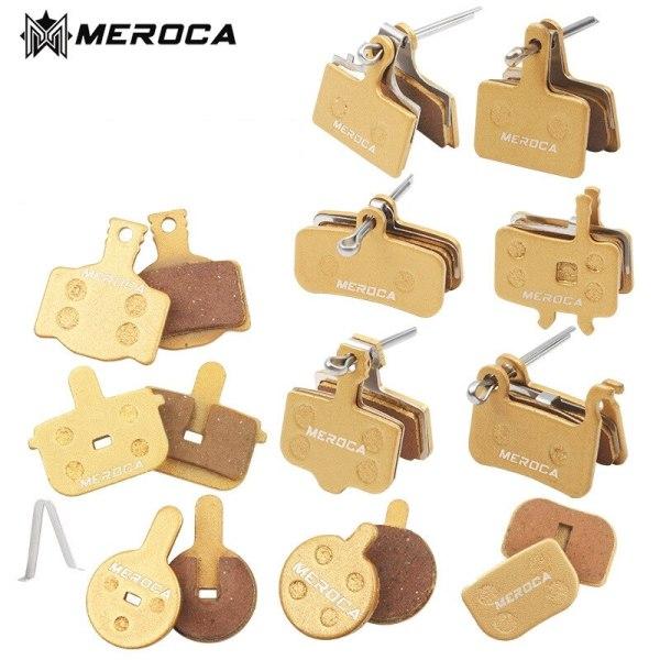 MEROCA MTB Mountain Bike Metal Brake Pads Wear-resistant For Shimano BB5/BB7 M315 Hydraulic Disc Brake Pads Cycling Parts