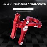 CYCLINGBOX Bike Water Bottle Mount Adapter Bike Handlebar Seat Post Bottle Cage Clamp Aluminium Alloy Double Kettle Holder