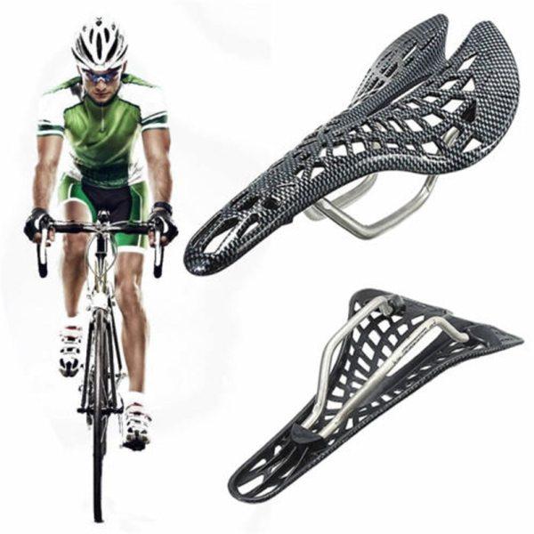 Carbon Fiber Mountain Road Bicycle Saddle Veins Racing Bike Bicycle Hollow Saddle Seat Bicicleta Parts Riding Cycling Equipment
