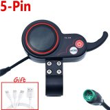 Kick Scooter Instrument Display Scooter Skateboard Dashboard Outdoor Portable for Kugoo M4 Electric Scooter Parts 5/6 pin