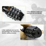 Mini Helmet Lock Anti-theft 4 Digit Password Bicycle Locks For Scooter Motorcycle Portable MTB Road Bike Cable Lock Accessories