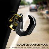 Aluminum Alloy Motorcycle Luggage Helmet Double Hook Mount Motorbike Scooter Helmet Holder Bag Hook Hanger With Screw