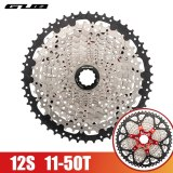 GUB CS12 1 Mountain Bicycle Cassette Flywheel 12-Speed 11-50T MTB Road Bike Freewheel Durable Cycling Bicycle Parts Accessories