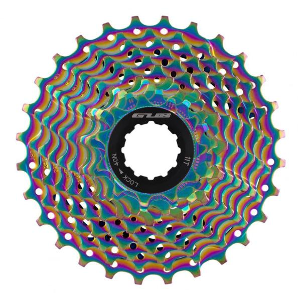 GUB RS1128 Bicycle Sprocket Colorful 11T-28T Electroplating 11S Hollow Lost Gear Bicycle Cassette Bike Freewheel for MTB Bike