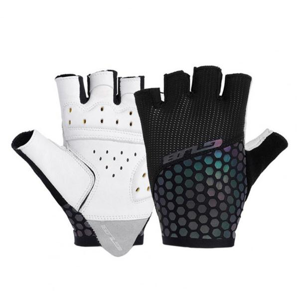 GUB S068 cycling gloves outdoor bicycle sunscreen breathable luminous half-finger non-slip colorful bicycle gloves