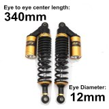 Universal 280mm 320mm 340mm Fork Round Air Shock Absorber Rear Suspension Spring Scooter DirtBike Gokart Quad ATV Motorcycle D30