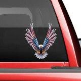 Car Decal Flying Hawk Auto Truck USA Eagle PET Flag Sticker Hood Decals