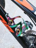 New Bicycle Bottle Holder Aluminum Alloy MTB bicycle bottle cage Electroplating Rainbow Water Bottle Cag Bike Accessories