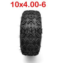 Electric Scooter 10 Inch Vacuum Tire 10x4.00-6 Tubless Tire Common to 3.50-6 Tire