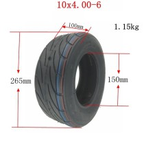 10x4.00-6 Electric Scooter Wheel Rim Tubeless Tire Tyre