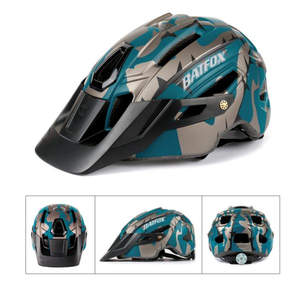 Batfox 2021 New Camouflage Outdoor Field MTB Road Bike Cycling Helmet Men Women Bicycle Helmet Adult Sport Helmet With Big Visor