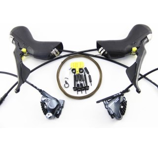 Shimano ULTEGRA ST R8020 Hydraulic Disc Brake DUAL CONTROL LEVER 2x11-Speed ST R8020 DUAL CONTROL LEVER + BR R8070 Brake