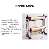 Roller Bicycle Trainer Indoor Stationary Exercise Home Cycling Bike Roller Training Aluminum Alloy for MTB Road Bike 16-29