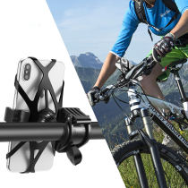 Elasticity Silicon Universal Bicycle Phone Mount Holder MTB Mountain Bike Motorcycle Handlebar Clip Stand for 3.5  to 7.5  Smartphones GPS