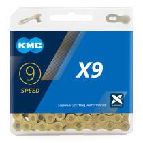 KMC X9 Gold MTB Road Bike Silver Chain 116L 9 Speed Bicycle Chain Magic Button Mountain With Original box