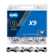 KMC X9 MTB Road Bike Silver Chain 116L 9 Speed Bicycle Chain Magic Button Mountain With Original box