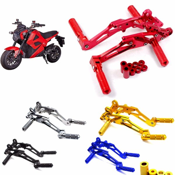 CNC aluminum motorcycle rear foot nail pedal pedal bracket accessories suitable for monkey M3 M5 M6 MSX125  motorcycle modify