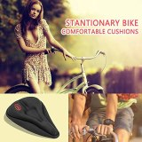 25# 3D Soft Thickened Bike Seat Gel Cushion Cover Parts Ergonomic Design For Large Wide Bicycle Saddle Pad Cycling Riding Seat