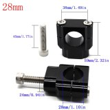 CNC 22mm 28mm Off road Motorcycle Bar Clamps Handlebar risers Adapter for 7/8  1-1/8 Pit Dirt motorbike bar Clamps