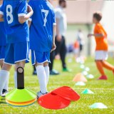 Soccer Training Sign Disc Cone Set  Pressure Resistant Cone with Plastic Stand Holder for Soccer Football Training