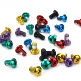12PC Multicolor MTB Mountain Bike Stainless Disc Brake Rotor Bolts M5 X 9mm T25 Torx Disc Fixing Screws Disc Accessories