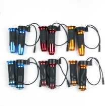 Electric Bike/scooter Twist Throttle with Battery power LCD display Switch Handlebar Grips for electric bicycle/scooter/ebike