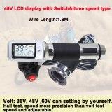 36V 48V 60V Waterproof LCD Display Speedometer Electric Bicycle Digital Twist Throttle Hall Speed Show Ebike Three Speed mileage