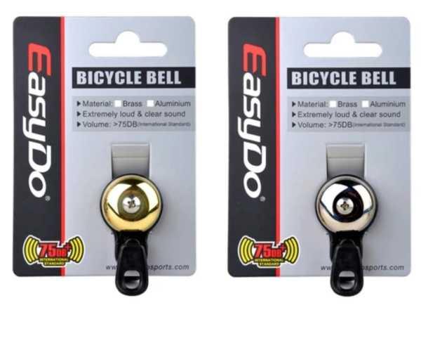 Easydo Bicycle Bell Ring Pure Copper /Plastic Bike Handlebar Ring Horn Outdoor Mini Road Bike Bell Cuernos Buzina Bicicleta