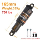 MEROCA Bicycle Rear Shock Absorber 125/150/165/190mm Electric Scooter Shock Absorber Mountain Bike Oil Spring Shock Absorber