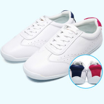 Woman And Man Breathable Genuine Leather Taiji Boxing Shoes Male  Martial Art  White Shoes Cowhide