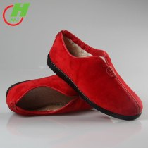 Winter  Tai Chi Shoes Martial Art Performance Breathable Shoes Taiji Boxing Practice Shoes Free Flexible Red And Black