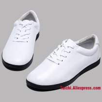 High Quality Cowhide Tai Chi Shoes Soft Real Leather Kung Fu Wushu Shoes Martial Arts Sneaker  Sports Training Footwear