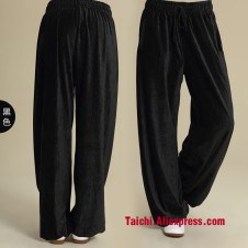 Thickening corduroy pants of tai chi men and women   clothing uniforms New paragraph qiu dong