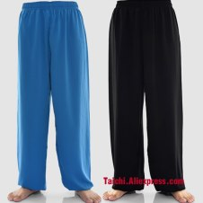 40%  cotton and 60% rayon  trousers  tai chi  clothing male martial arts  pants Taijiquan pants Taiji clothes