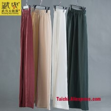 flax martial arts sections for men and women Yoga Pants tai chi clothing