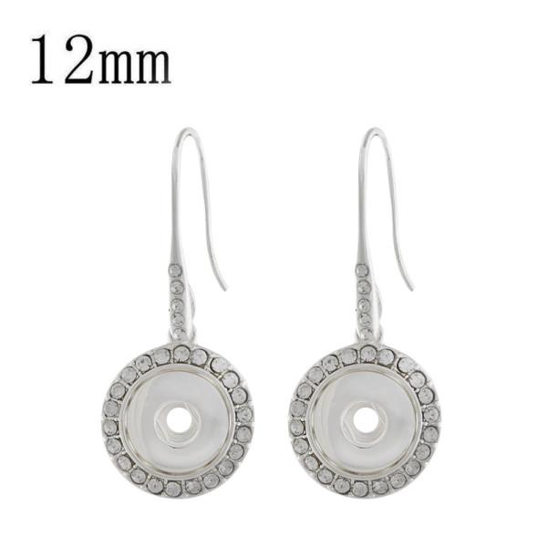 Boucle d'oreille en forme de ruban avec strass 12MM s'enclenche bijoux KS1202-S